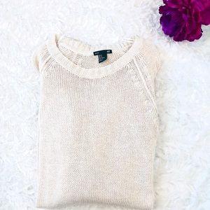 H&M Cream Chunky Sweater Dress/Tunic